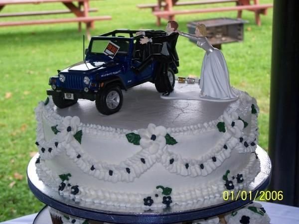 haha for me, the groom would be pulling me of the jeep.