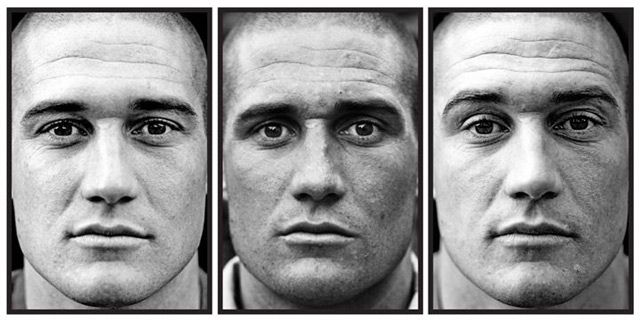 Soliders before, during & after war photo series