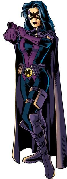 Huntress - DC Comics - JLA - Outsiders - Helena Bertinelli. From http://www.writeups.org/fiche.php?id=2431 . Glad I could redo it, though redoing the entry will be a major undertaking.