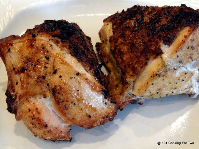 Spicy Garlic Grilled Bone In Skin On Split Chicken Breast