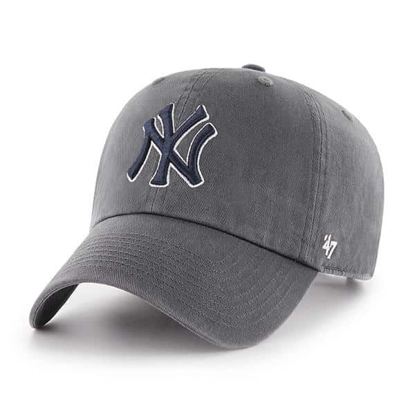 New York Yankees 47 Brand Charcoal Clean Up Adjustable Hat Detroit Game Gear New York Yankees Hats For Men New York Girls