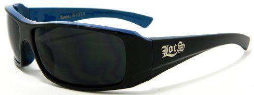LOCS Sunglasses Blue Black OG Hardcore Shades Dark Lens 914B Wholesale LOCS DG XLOOP CHOPPERS. $4.99