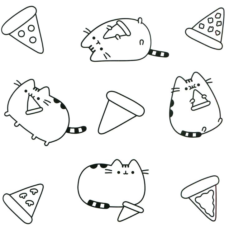94 Best Pusheen Coloring Book Images On Pinterest Coloring Books Coloring Pages Cats