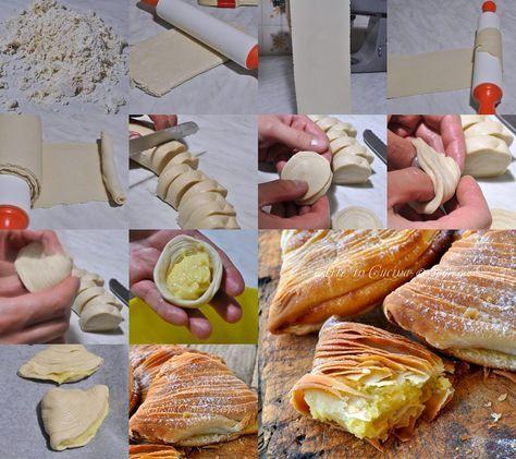 Technique des Sfogliatelle italiennes - Sfogliatelle ricce napoletane fatte in casa | Arte in Cucina