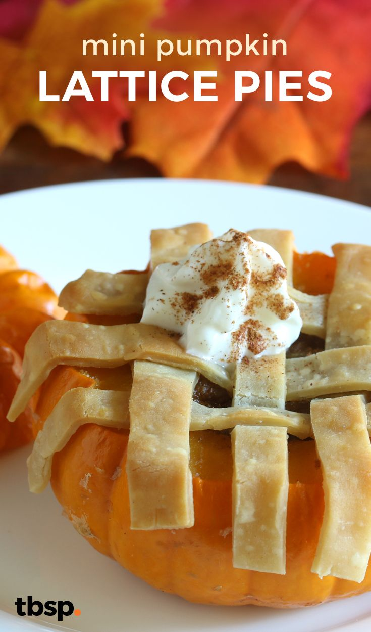 Mini Pumpkin Lattice Pies | Recipe | Lattice pie crust ...