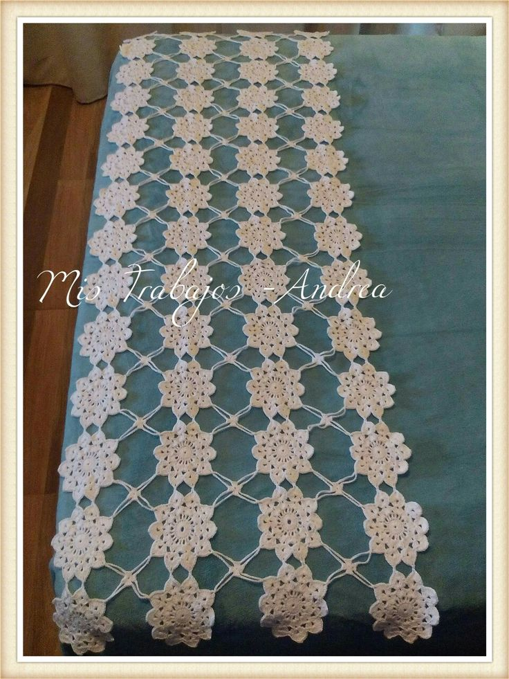Pie de cama crochet