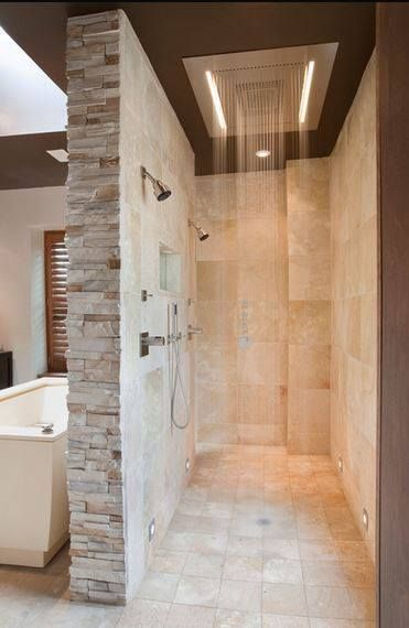 Rain shower----♥ it or leave it?  #bathroom #dreamhome #shower