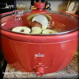 Southern Belle as an Army Wife: Crock Pot Apple Butter Pork Loin