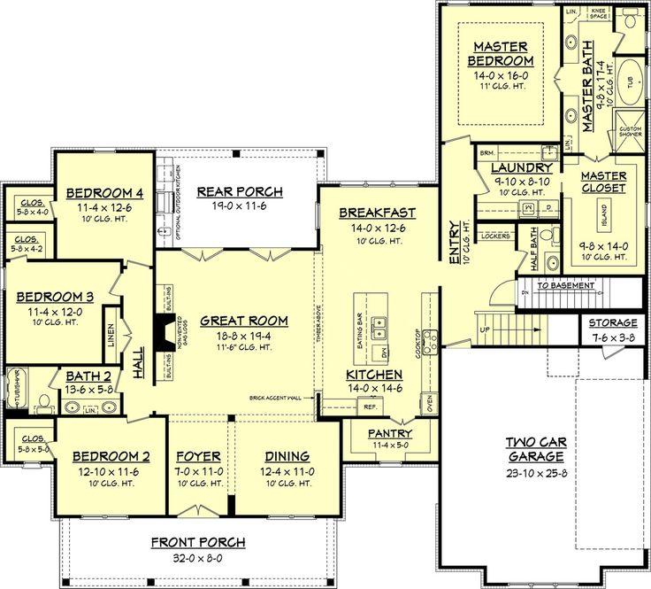 Farmhouse Style House Plan - 4 Beds 2.5 Baths 2686 Sq/Ft Plan #430-156 Floor Plan - Other Floor Plan - Houseplans.com