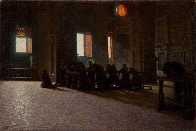 Angelo Morbelli (1853-1919), Incensum Domino! - 1892