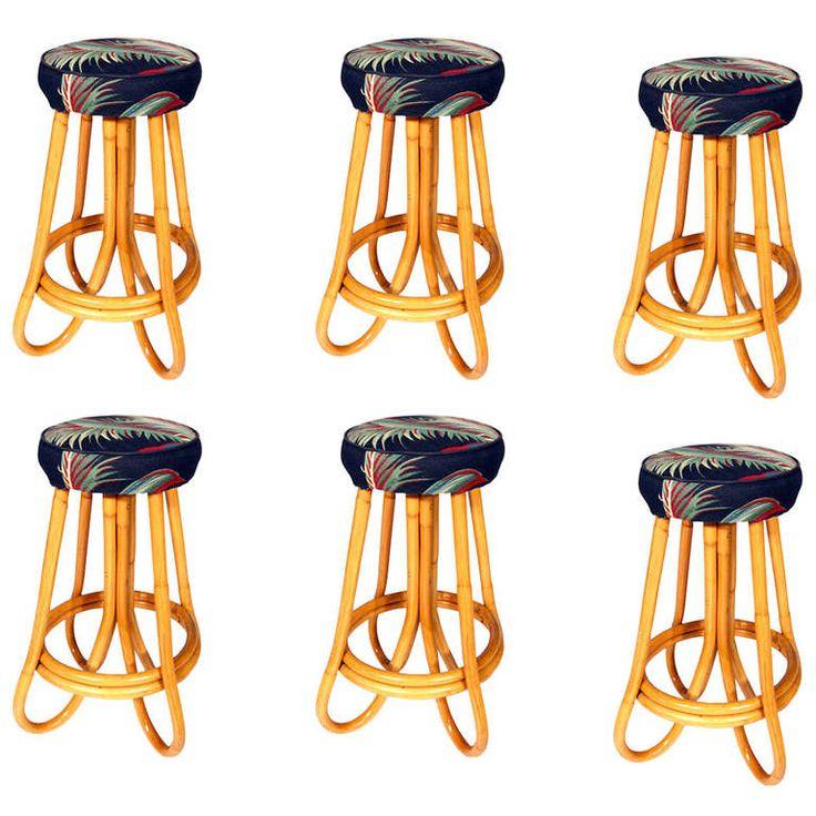 Restored Pair Of Four Pole Bent Leg Rattan Bar Stool | Pole Bending, Rattan  Bar Stools And Modern Stools