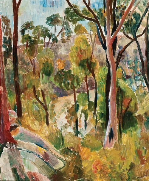 Artwork by Grace Cossington Smith: 'Bush in the National Reserve '