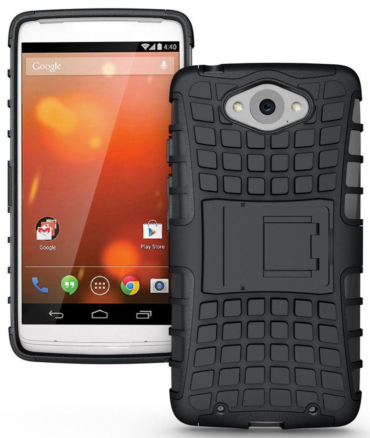 MOTOROLA DROID TURBO CASE, TPU PRIME DUAL LAYER COVER WITH KICKSTAND (BLACK)   #cellphonegadgets #mobileaccessories www.kuteckusa.com