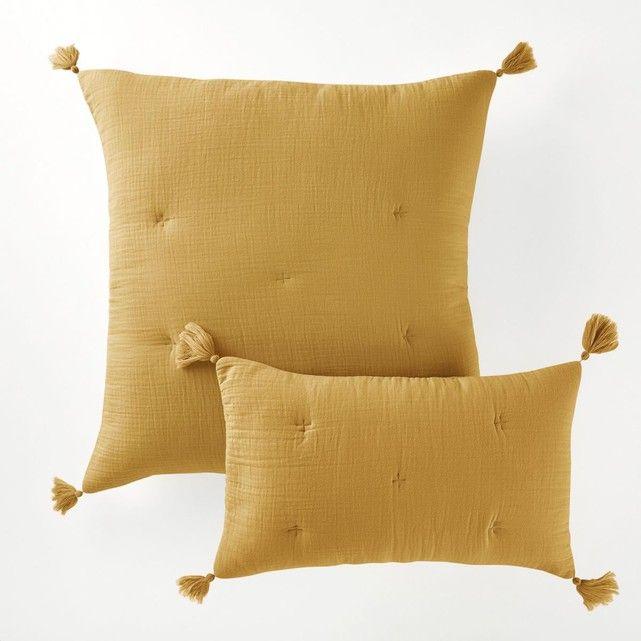 housse de coussin gaze de coton kumla taille 65x65 cm. Black Bedroom Furniture Sets. Home Design Ideas
