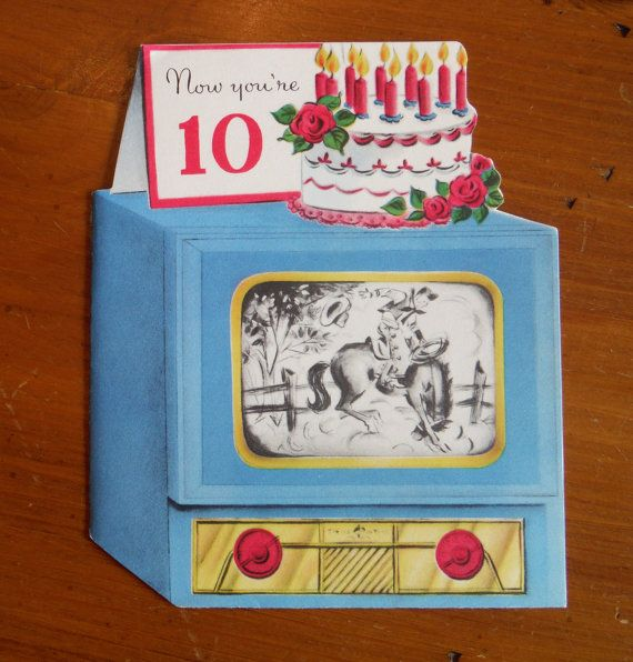 Vintage 10 Year Old Birthday Card