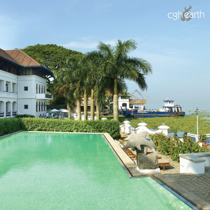 The CGH Earth's Brunton Boatyard's pool is built to please – from the heritage look of the hotel on one side to the historic view of the #CochinHarbour on the other. #CGHEarthExperiences