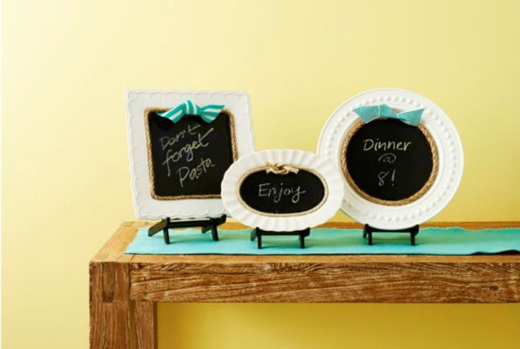 How to Make Adorable Chalkboards from Old Plates - WomansDay.com