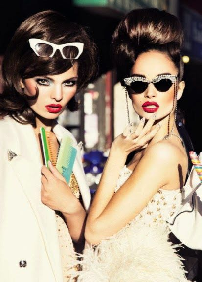 Luma Grothe by Ellen von Unwerth for Vogue Italy 2013. Sunglasses After Dark.....