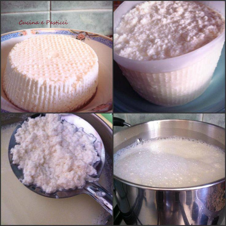 Ricetta Ricotta fatta in casa1 litro di latte intero (fresco o a lunga conservazione)3 cucchiai di aceto bianco/ oppure aceto di mele1 cucchiaino di