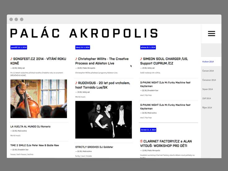 Palac Akropolis Web Redesign