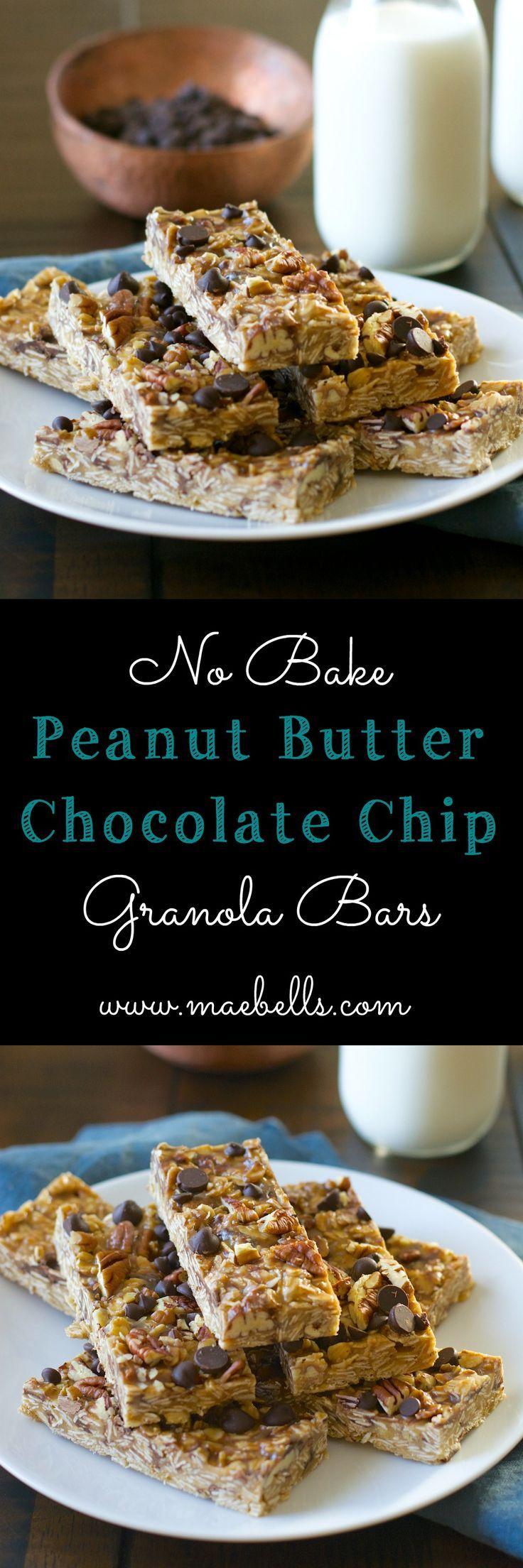 Peanut Butter Granola Bars | Recipe | Chocolate chips, Gluten free and ...
