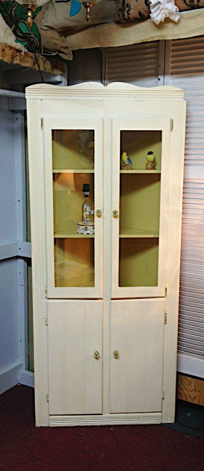Painted Corner China Cabinet