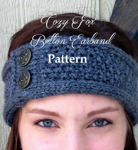 Now you can make our cozy buttoned earband for yourself! Save on shipping and get the exact look you want with our easy to follow instructions.  Pattern is in PDF format and for personal use only.  Level: Easy