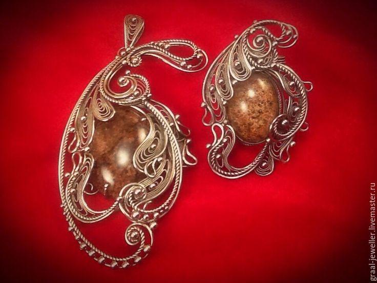 """Купить Кулон с хрусталем """"Хрустальное цветение ......."""" - бежевый, хрусталь, кольцо, кольцо с камнем, Бижутерия"""