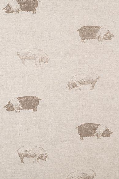 Saddleback Pig Linen Fabric by Emily Bond Image 1