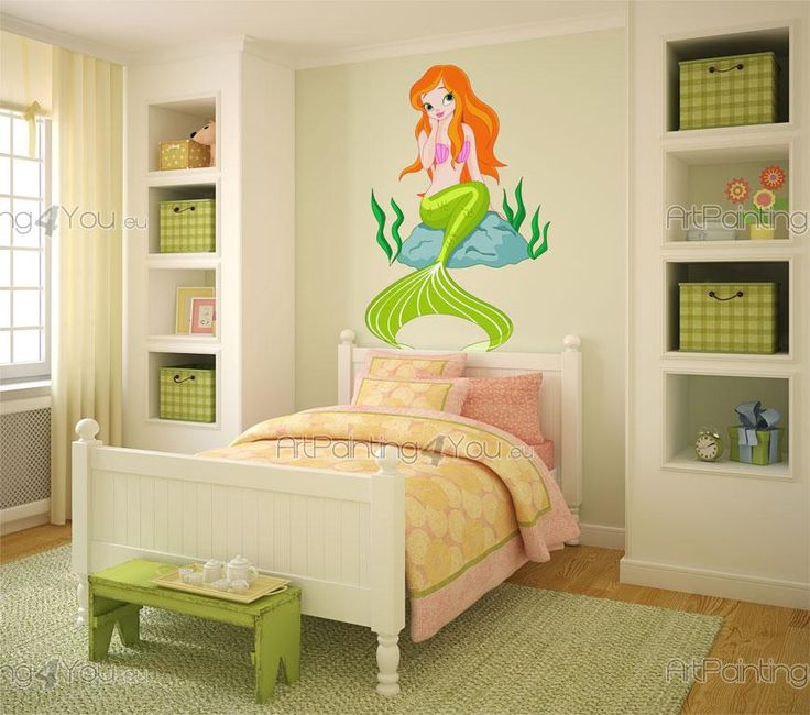 Sjöjungfrur - Brett utbud av dekorativa produkter, Väggdekor och Wallstickers Barnrum, Väggdekoration Barn, Väggdekaler. Det roliga sättet att Dekorera på!