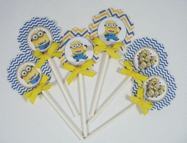Minions Cupcake Topper/ Minions birthday Theme 2 dozen ready to use  #Handmade #BabyShower
