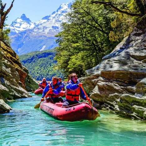 One of the best days out in the region has got to be the Dart River Funyak tour. Jetboat for 1 hour up into Mount Aspiring National Park and then cruise down in your inflatable canoe, stopping for lunch on the side on the stunning Rockburn Chasm. Highly recommended! #UltimateQueenstown