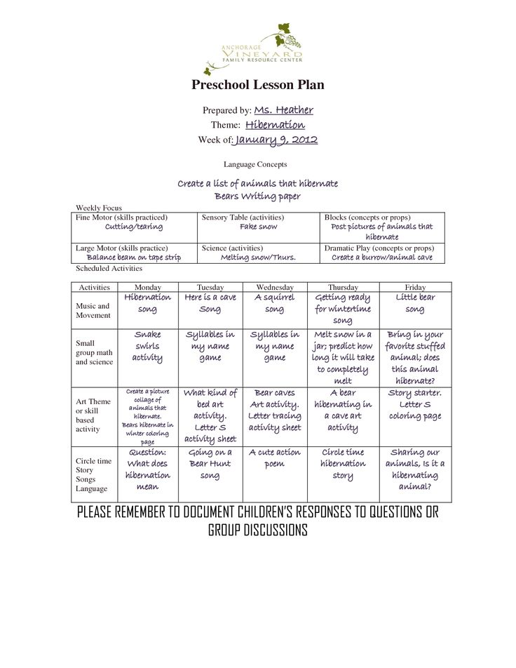 lesson plan office templates
