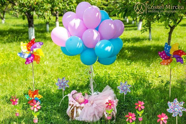 Decor cu moristi si baloane cu heliu