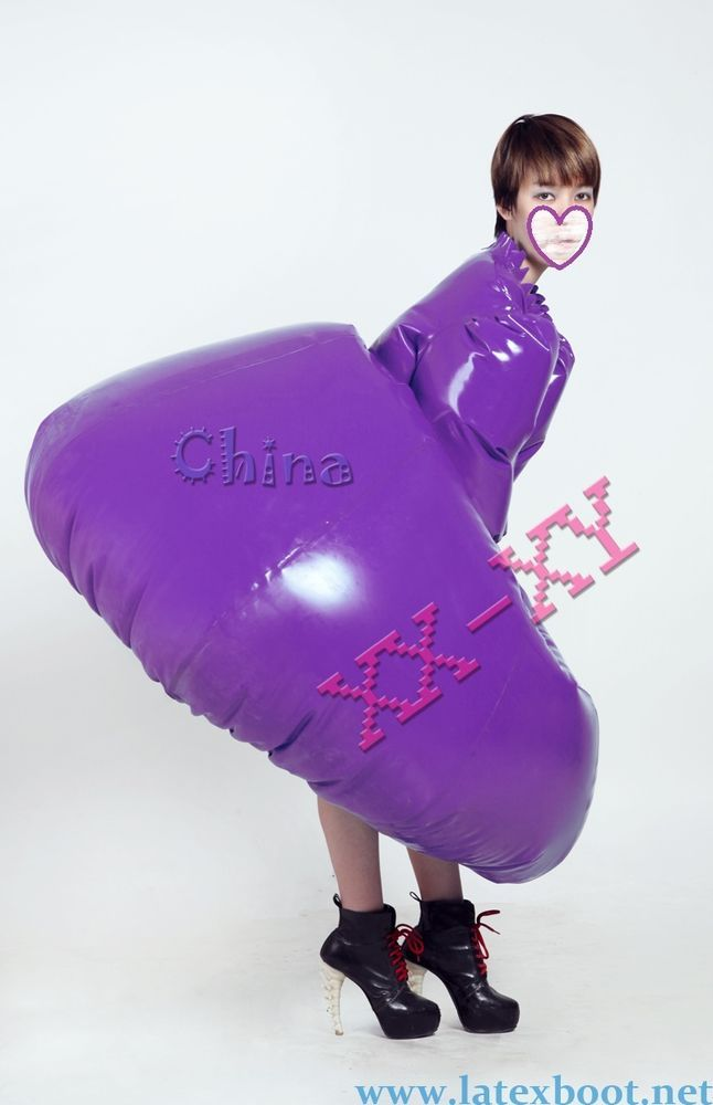 Inflatable Latex unisex bondage dress,rubber inflatable ...