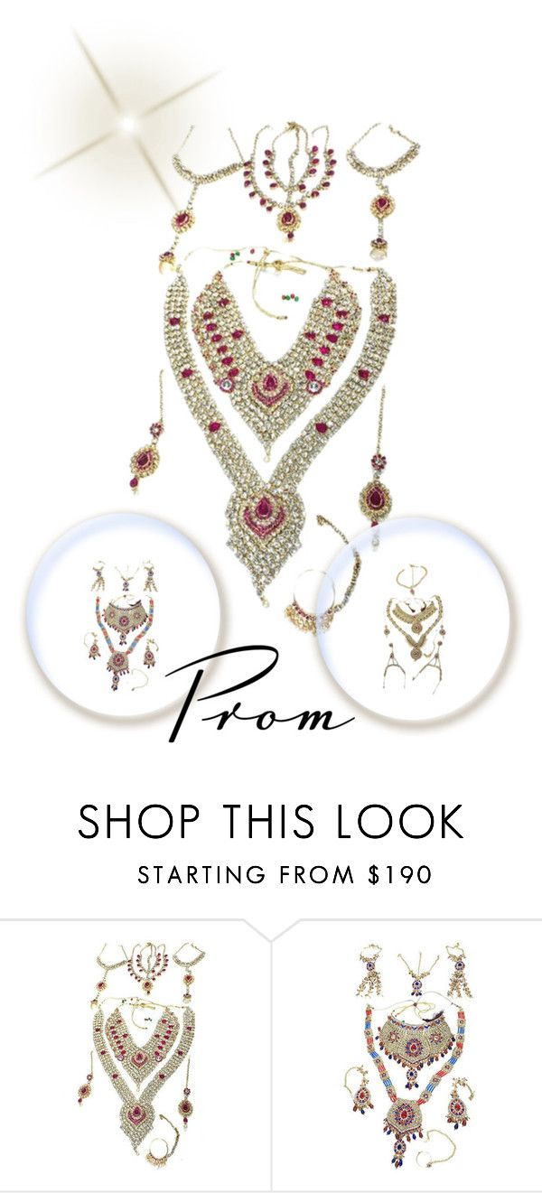 """""""Indian Bridal Jewelry"""" by mogulinteriordesigns ❤ liked on Polyvore"""