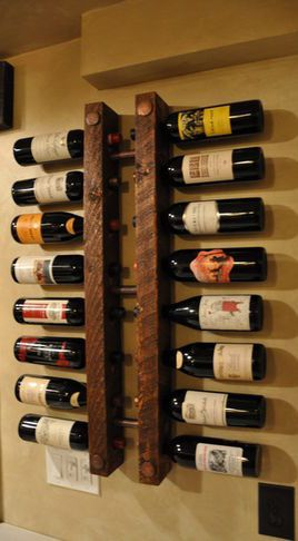 Cool wall mounted wine rack