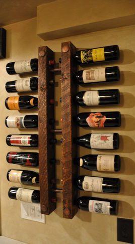 Cool wall mounted wine rack