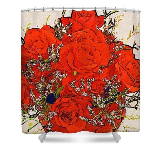 Flowers Art Prints Shower Curtain  #flowers #art #poster #gifts