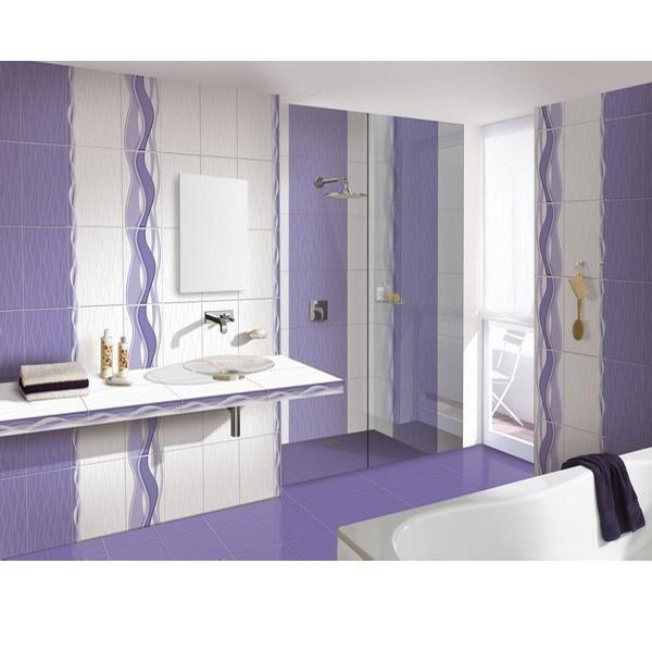 Faianta Onda alunga orice urma de monotonie din baie.