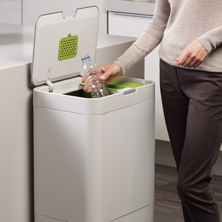 Totem Kitchen Bin | Intelligent Waste™ By JosephJoseph   36L General Waste  Compartment