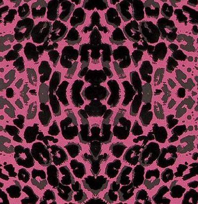 Розовые леопардовые обои Кристиан Лакруа