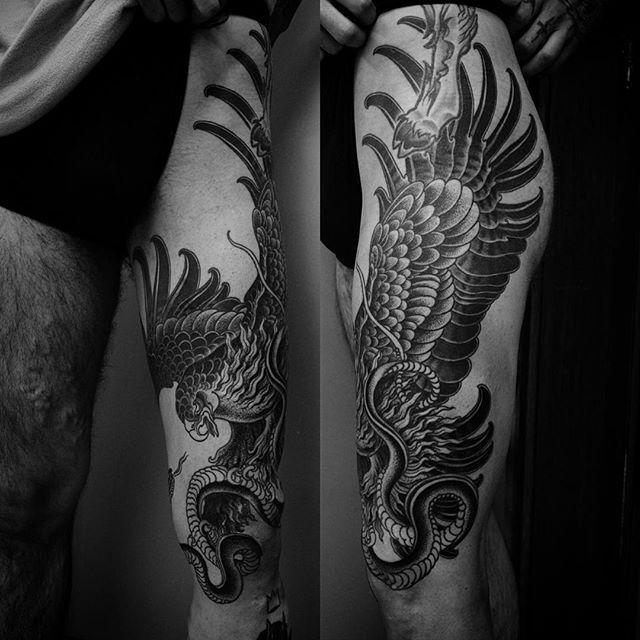 Eagle & Snake by Alexander Grim @ alexandergrim