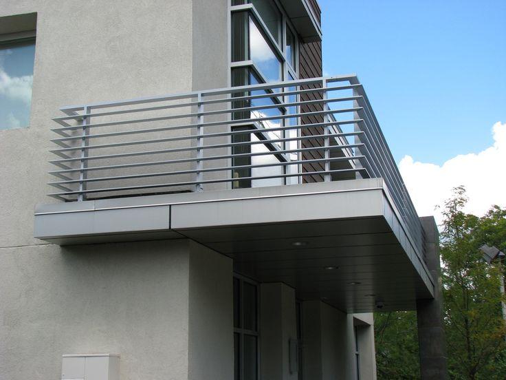 Contemporary Design Aluminum Flat Bar Railing - WELD TECH FABRICATING