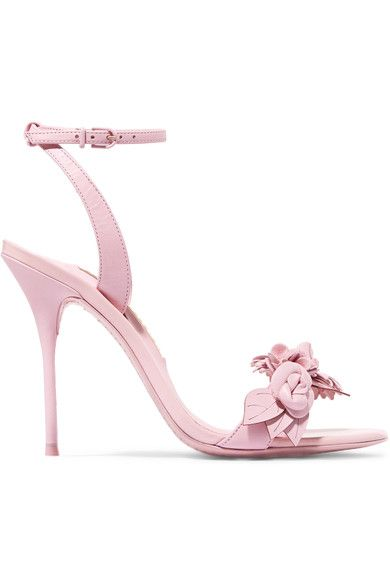 Heel measures approximately 100mm/ 4 inches Baby-pink leather Buckle-fastening ankle strap Come with dust bags Made in ItalySmall to size. See Size & Fit notes.