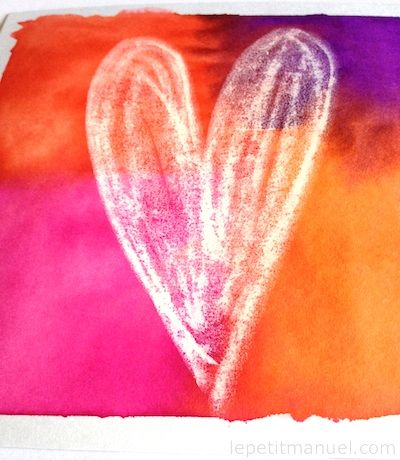 Réaliser de beaux cœurs teintés tout colorés // How to make these colorful hearts @ Le Petit Manuel