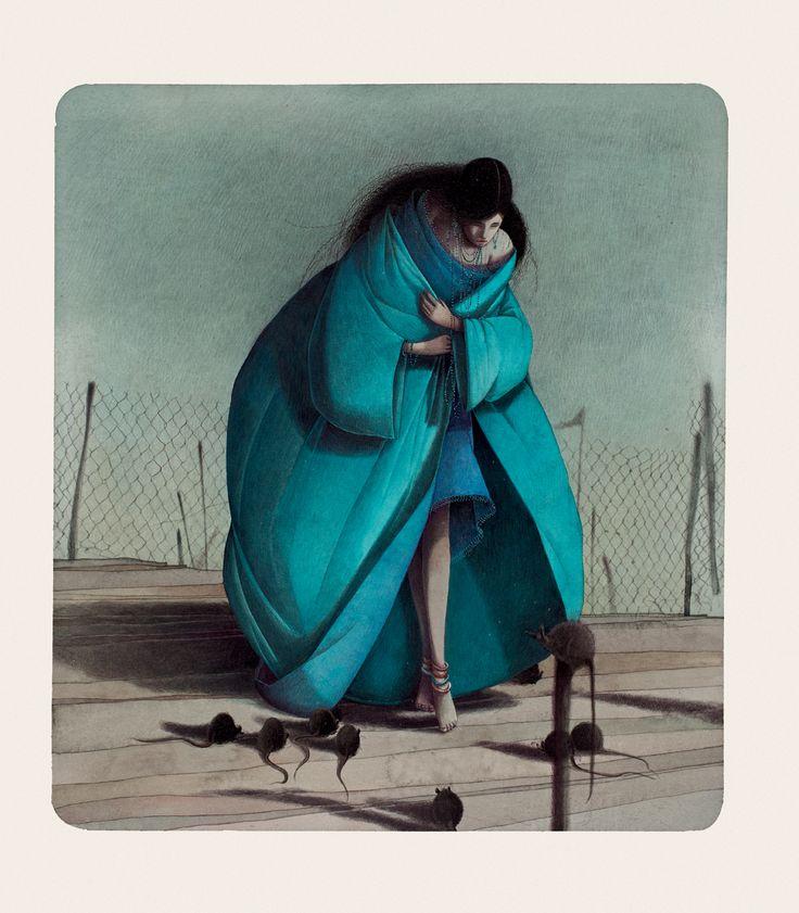 Rebecca Dautremer - Illustration - Une Bible - Judith et les rats