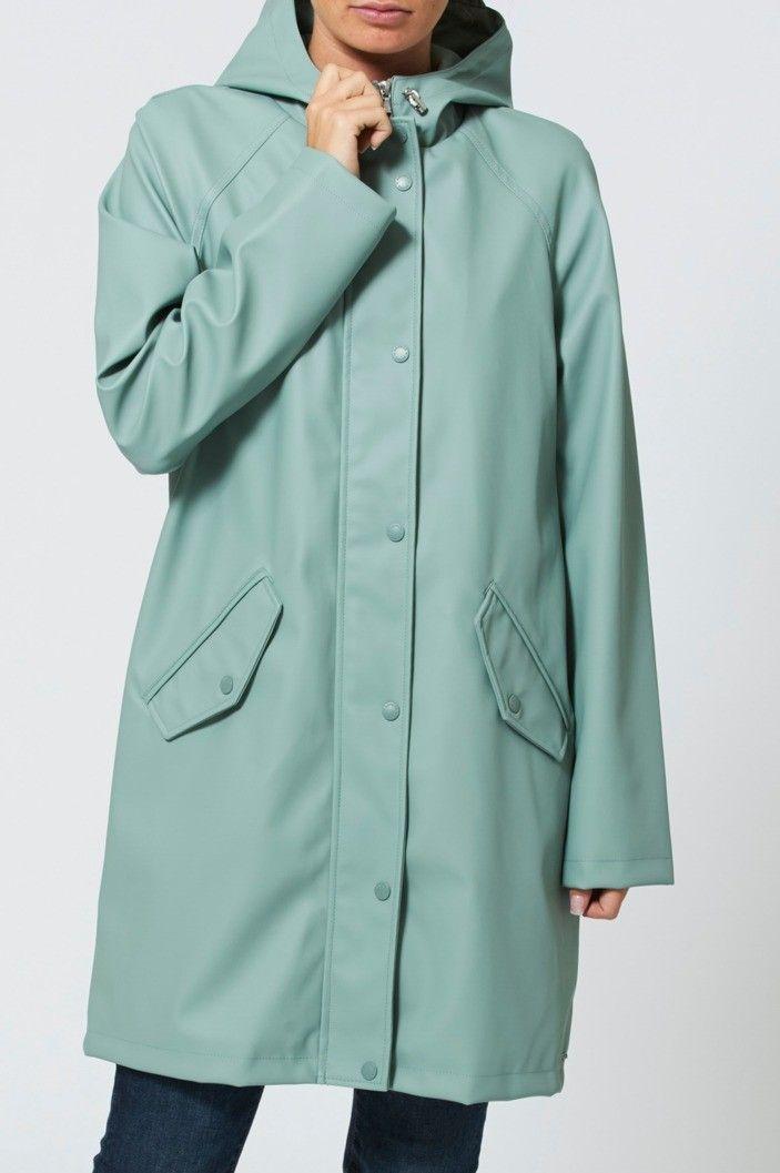 Wonderbaar America Today dames regenjas. De gevoerde jas heeft een rits- en MR-58