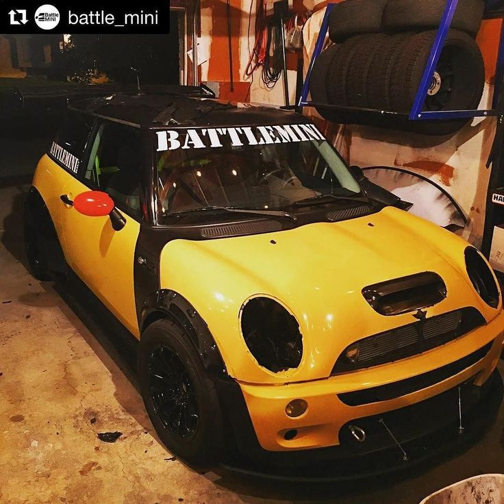 Liquid yellow. Before it was dipped . #Repost @battle_mini (@get_repost)  Well why not change the color while she's waiting to get the head gasket done?  No yellow is not the new color @skinnie.dip going to give her the proper treatment soon #battlemini #battleminiaero #battleminifrontsplitter #battleminisidesplitter #platidip #r53 #minicooper #minicoopers #johncooperworks #jcw #trackmini #sprintex #sprintexusa #minichallenge #r56 #roadworthytrackready #leapworks #leapomicron #hoodscoop