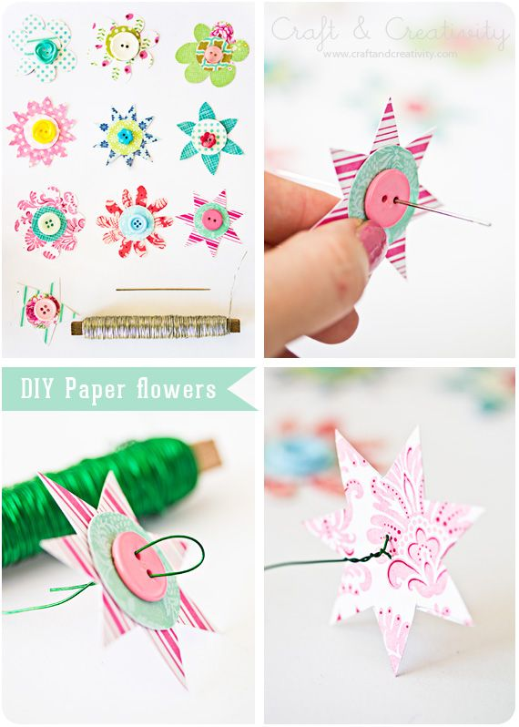 Good Ideas For You | DIY Paper flowers so handy to have on gifts & more